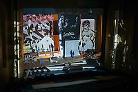 Director William Kentridge working on an upcoming opera, Lulu, for the Metropolitian Opera in New York.<br /> (Photo by Robert Caplin)