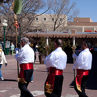 2010 Palm Sunday Celebration on the Santa Fe, New Mexico Plaza.