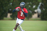 Ole Miss' Collins Moore at football practice in Oxford, Miss. on Saturday, August 3, 2013.