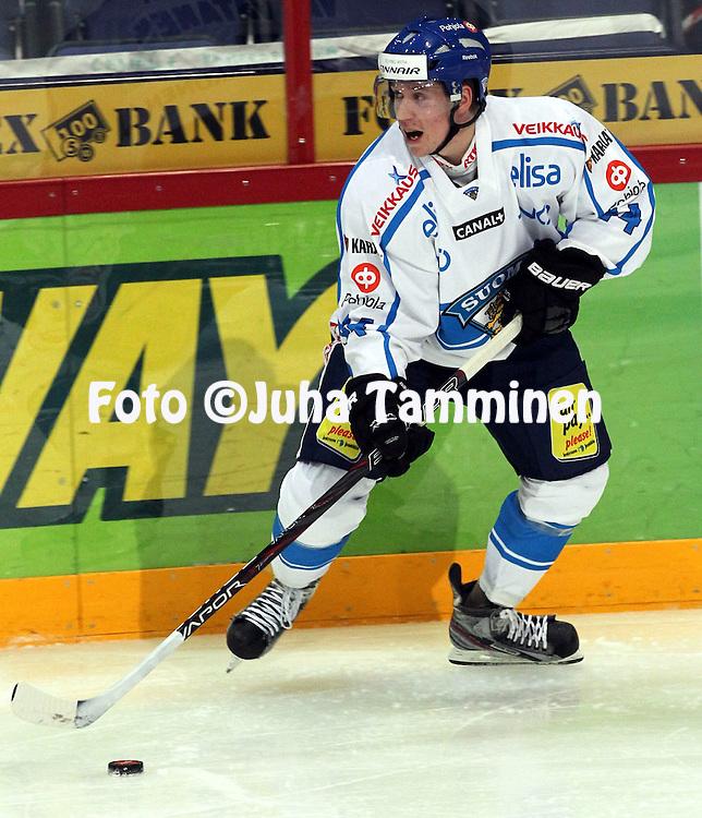 10.11.2011, Hartwall-Areena, Helsinki, Finland..Euro Hockey Tour - Karjala-turnaus 2011. Suomi - Venj / Finland v Russia..Sami Vatanen - Suomi..