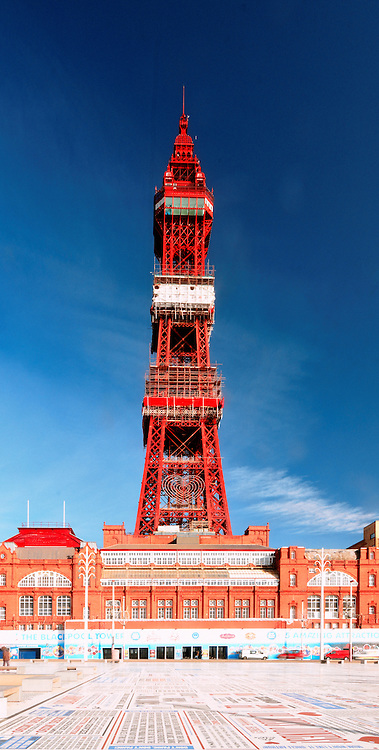 Blackpool Tower is an iconic landmark and tourist attraction in the Lancashire seaside town of Blackpool in Northwest England.