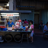 hawkers on Kimberley Street, evenings