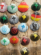 Many souvenirs were for sale as Santiago de Compostela grew closer. These colourful scallop shells were a fascinating and different offering.