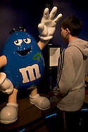 Tourist at M&M's World, Las Vegas, Nevada
