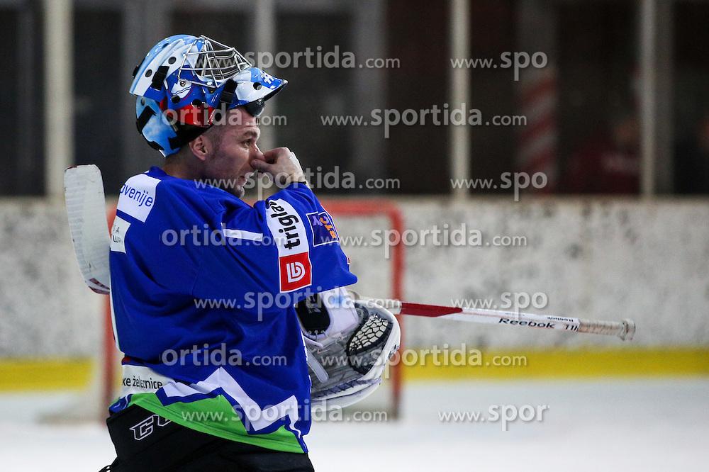 Andrej Hocevar of Slovenia during friendly ice hockey match between Slovenia and Croatia, on April 12, 2016 in Ledena dvorana, Bled, Slovenia. Photo By Matic Klansek Velej / Sportida