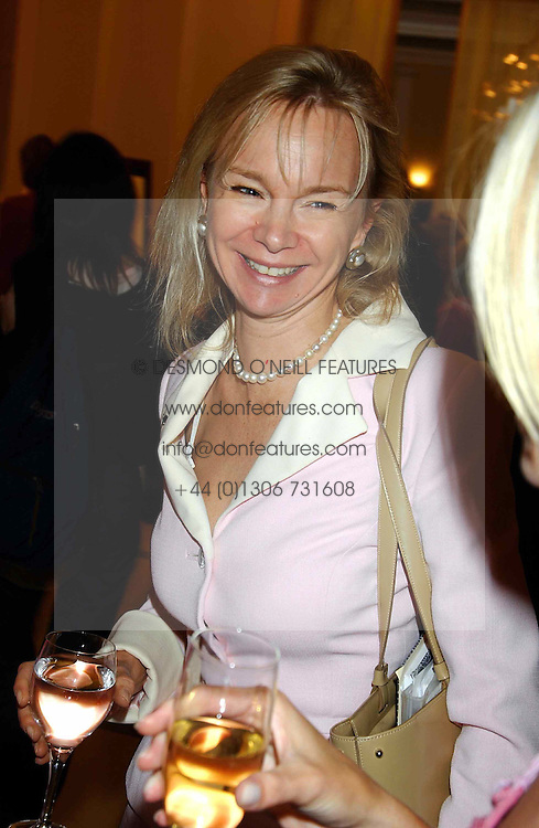 The COUNTESS OF DERBY at a lunch and fashion show by Bruce Oldfield in aid of Barnados and held at Claridges, Brook Street, London W1 on 22nd September 2004.<br /><br />NON EXCLUSIVE - WORLD RIGHTS