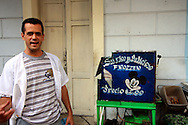 Ice cream vendor in Pinar del Rio, Cuba.