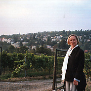 Mom in the vineyards on the way to AIS