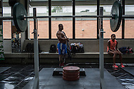2016/06/07 &ndash; Bogotá, Colombia: Fábio Torres, 39, before a training session of powerlifting in High Performance Center, Bogotá, 7th June, 2016.  <br /> -<br /> Fábio is a retired Army Corporal. In 2008, he stepped on a landmine while on patrol in the Colombian jungle, losing his left leg. The accident became a big change in Fabio&rsquo;s life; he felt he had to learn everything again. Fábio found strength to continue his life through sport, and specially powerlifting, which he at first just practiced as hobby. Since 2009 he dedicates all his time to the sport, in the beginning just as a rehabilitation process and now as fulltime sportsman. He has had a successful year, in 2016; Fábio became World Champion of Powerlifting in Brazil after lifting 211kg. In the Rio 2016 Paralympics, he wants to bring a medal home. Regarding the violence in his country, he hopes that the peace process goes further. There are already too many victims, and he doesn&rsquo;t want people to go through what he has been through. He believes that the country need less violence and more sports, so they can get peace in Colombia. (Eduardo Leal)