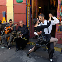 Tango Dancer at El Caminito, La Boca, Buenos Aires, Argentina