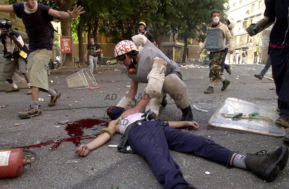 Piazza Alimonda. The death of Carlo Giuliani.