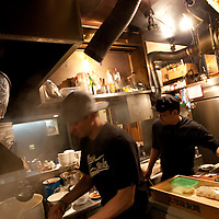 The kitchens of Bassa Nova ramen restaurant in Shindaita district, in Tokyo, Japan, Wednesday 28th April 2010.