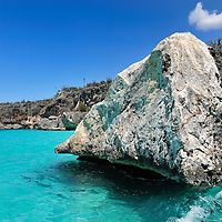 Rocky Sea cliffs near Cabo Rojo,Playa Cabo Rojo, Dominican Republic, Caribbean