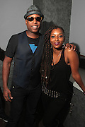 August 20, 2012-New York, NY:  (L-R) Recording Artist Talib Kweli and Recording Artist Res known collectively as Idle Warship backstage at the Idle Warship Concert featuring Talib Kweli & Res Produced by Jill Newman Productions and held at the Highline Ballroom on August 19, 2012 in New York City. A collaboration between longtime friends, hip-hop luminary Talib Kweli and critically acclaimed soulful singer and songwriter Res, Idle Warship is a perfect example of how a whole can become greater than the sum of its parts. Idle Warship was born out of sheer experimentation in the studio and have become one of the premiere live bands in the U.S. (Terrence Jennings)