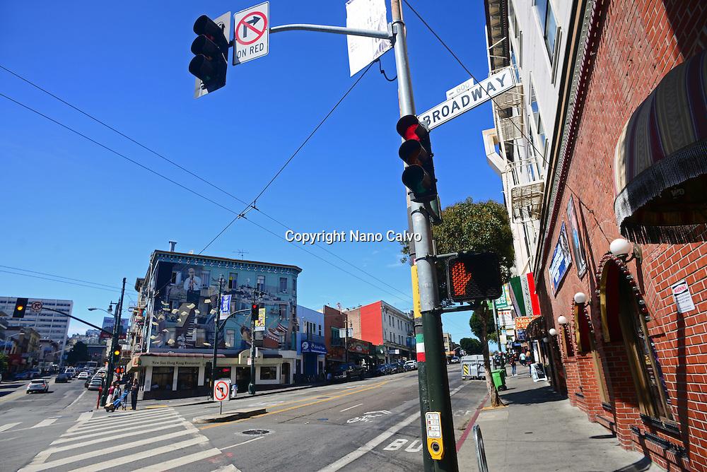 Broadway street in San Francisco.