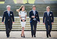 The Duchess of Cambridge attended a breakfast reception at The National Maritime Museum in Greenwich. The Duchess met supporters of the bid to launch a British Team for the America's Cup, headed by Sir Ben Ainslie. The Duchess met crew and boat designers before viewing an America's Cup class boat at the museum.<br /> <br /> Picture shows Duchess of Cambridge, Sir Ben Ainslie, Sir Kieth Mills and Sir Charles Dunston<br /> <br /> Credit: Lloyd Images<br /> Rights free for editorial use.
