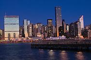 Midtown Manhattan Skyline, Pier Hunters Point, Queens, Manhattan, New York City, New York, USA