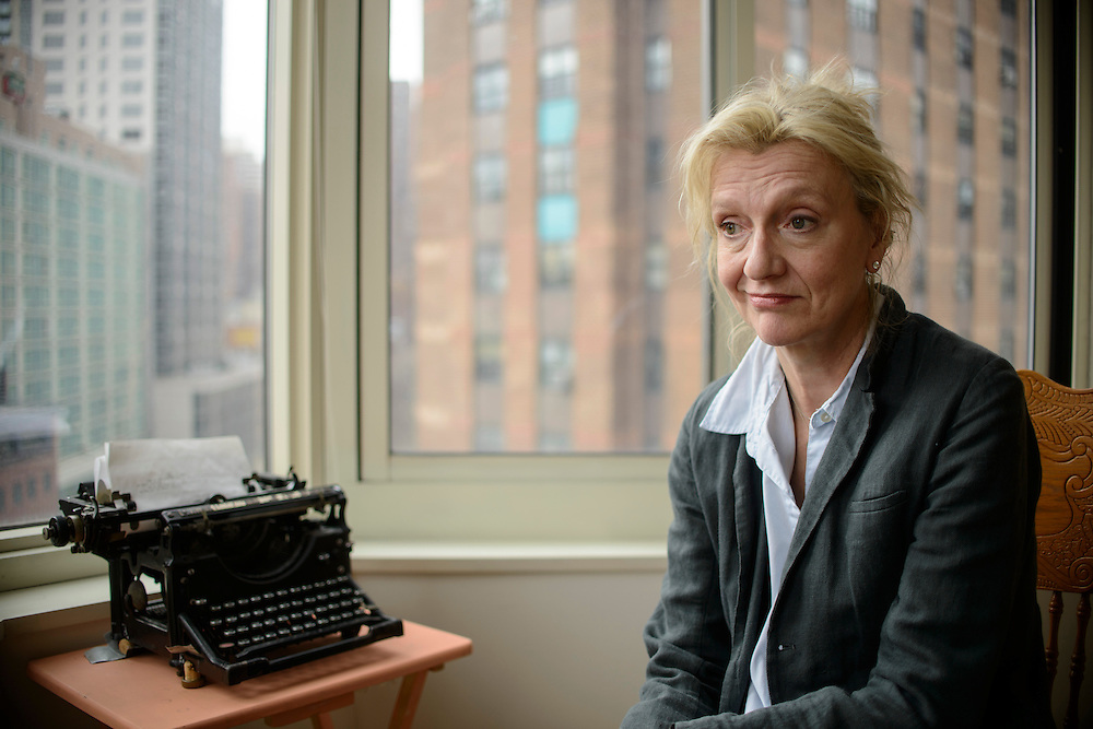 "Pulitzer Prize winning novelist Elizabeth Strout's new book ""Burgess Boys,"" is due out March 26th. She is photographed in her Manhattan apartment building, Monday, March 11, 2013. Her novel Olive Kitteridge won the Pulitzer Prize in 2009 and has been turned into an HBO mini-series."