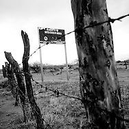 The U.S./Mexico border on Saturday, July 12, 2008 in Papago Farms, AZ.