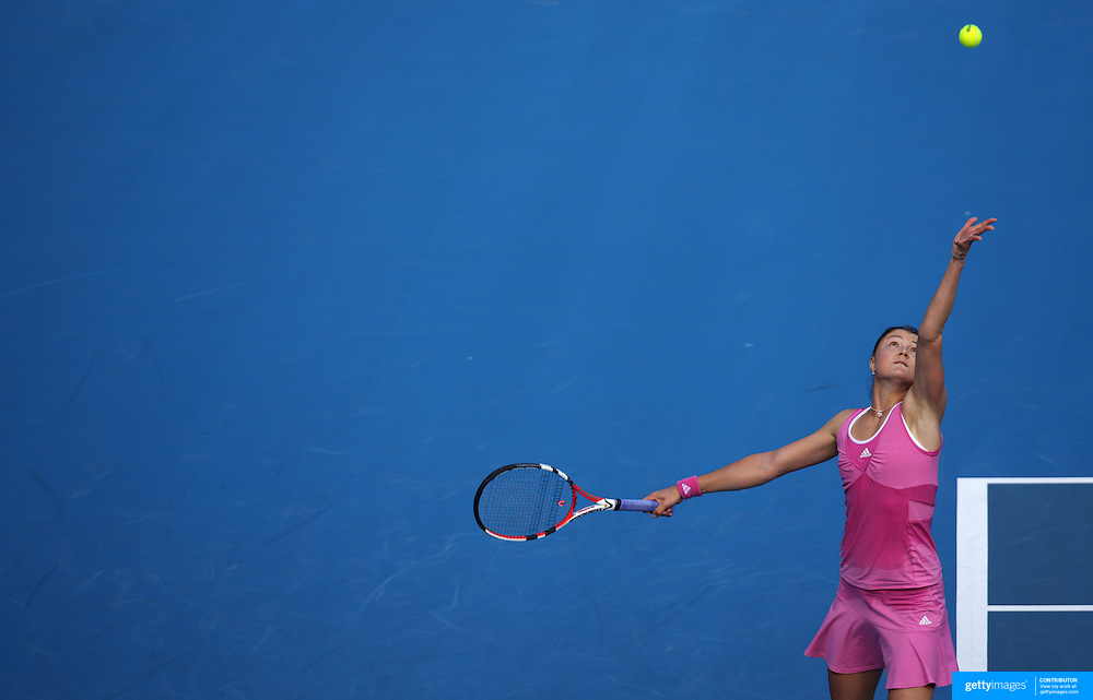 Dinara Safina of Russia on her way to a 6-2 6-1 victory over Romania's Sorana Cirstea in the first round of the Medibank International Sydney Tennis Tournament on January 12, 2009 in Sydney, Australia. Photo Tim Clayton