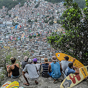 Rocinha's slum, seen from the top of a hill overlooking the entire slum