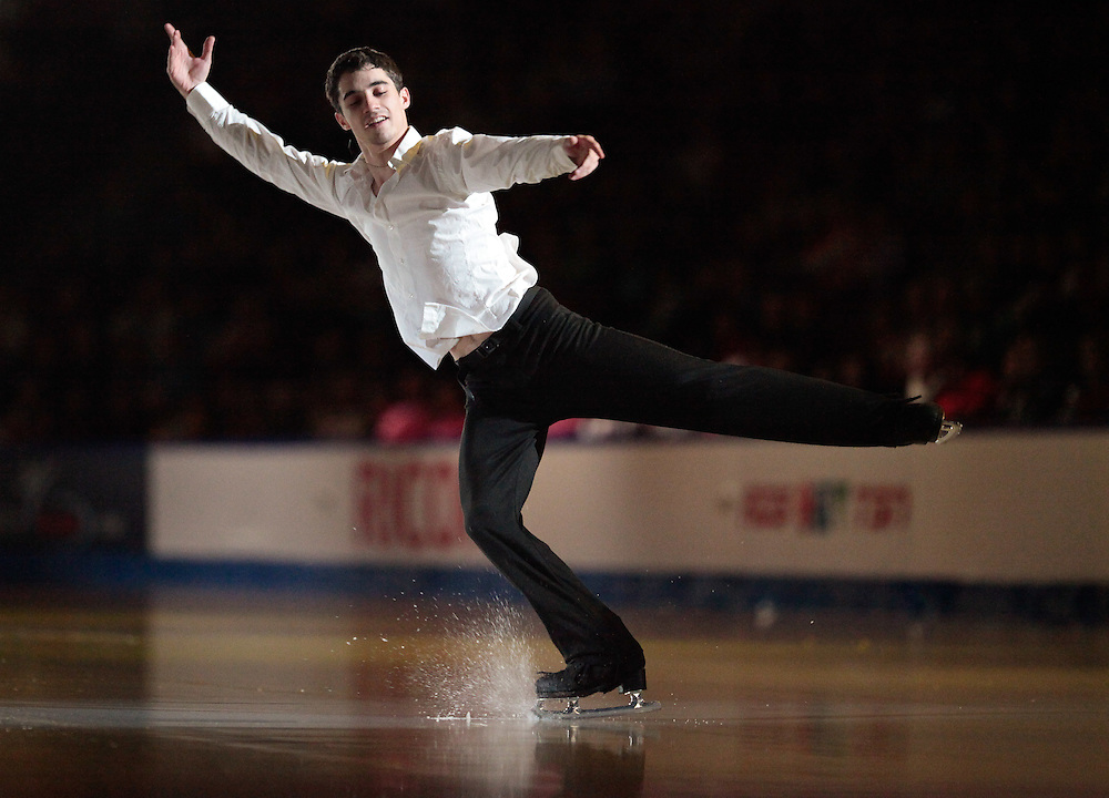 GJR469 -20111030- Mississauga, Ontario,Canada-  Javier Fernandez of Spain performs during the Exhibition Gala at Skate Canada International, in Mississauga, Ontario, October 30, 2011.<br /> AFP PHOTO/Geoff Robins