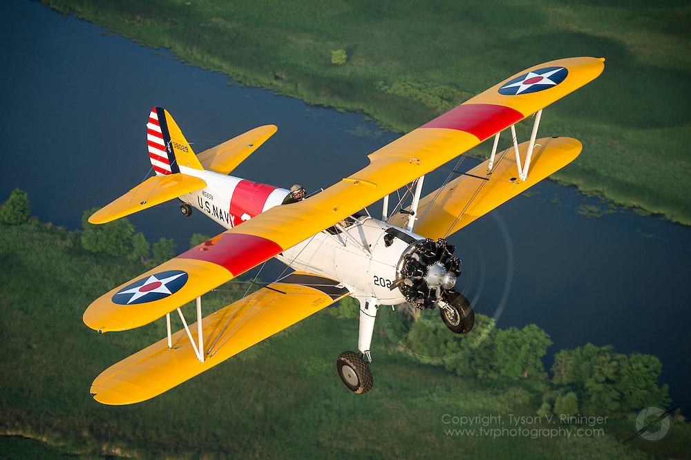 1943 PT-17 Boeing Stearman owned and flown by Ralph D. Ring and Debbie Ring