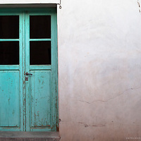 A detail of a door in the small desert town of Huamahuaca in northern Argentina.