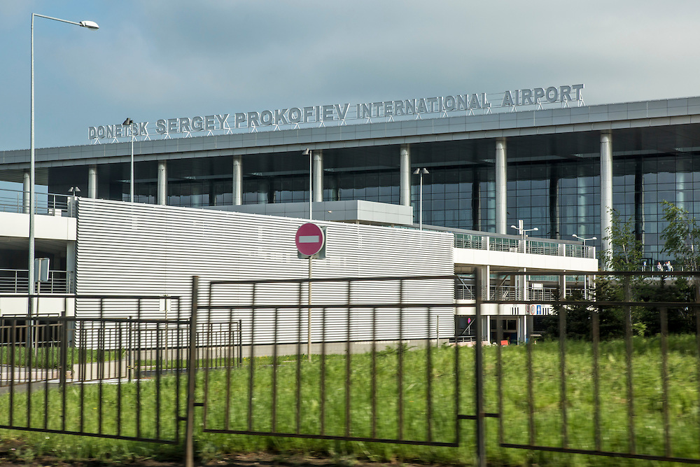 DONETSK, UKRAINE - MAY 6: Donetsk Sergey Prokofiev airport, where all flights cancelled after reportedly receiving orders from the government, on May 6, 2014 in Donetsk, Ukraine. Tensions in Eastern Ukraine are high after pro-Russian activists seized control of at least ten cities and ahead of the Victory Day holiday and a planned referendum on greater autonomy for the region. (Photo by Brendan Hoffman/Getty Images) *** Local Caption ***