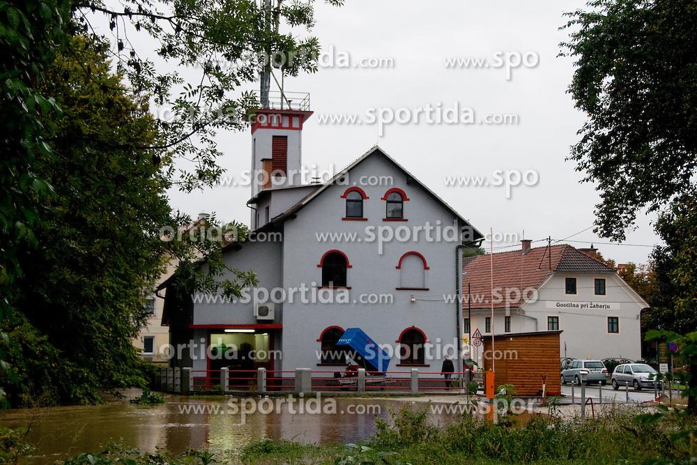 Fireman station almost flooded after heavy rain on September 18, 2010, in Ljubljana, Slovenia. (Photo by Matic Klansek Velej / Sportida)