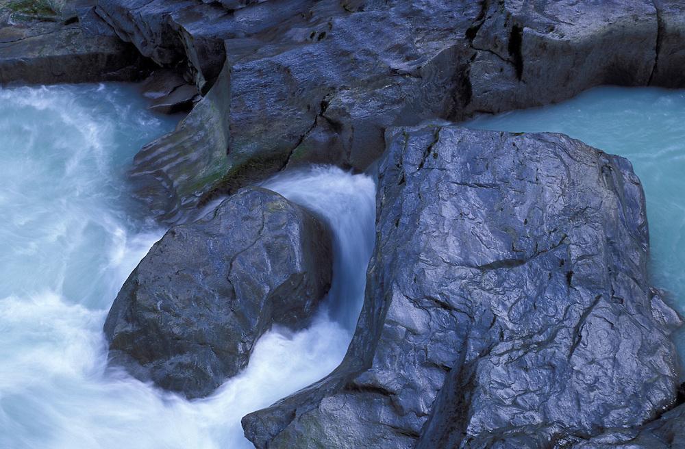 Creek at Nairn Falls Provincial Park, north of Whistler, British Columbia, Canada