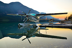 Cessna Grand Caravan N208LB spends the night at Northern Rockies Lodge.