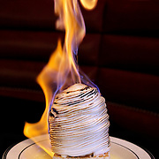 Baked Alaska at the Oceanaire Seafood Room in the Galleria Dallas.
