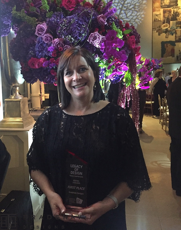 1st Place ASID Legacy of Design Award 2016!!  1st Place Kitchen over $50,000 in the state of Texas!!Thank you Diana Workman,interior designer at Bradshaw Designs, for traveling to Dallas to accept the award!!