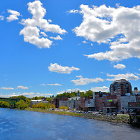 Brief Introduction to Augusta, Maine<br /> When this area was settled by the English in 1629, it had the Indian name of Cushnoc. While part of Massachusetts, the town was renamed Augusta in 1797 in honor of Henry Dearborn&rsquo;s daughter. He was a key military figure during the Revolution and the War of 1812 plus a U. S. Secretary of War. Augusta became the capital of Maine in 1832 and a city in 1849. This small community of about 20,000 residents has maintained its New England charm along the banks of the Kennebec River. In the background is the Kennebec Memorial Bridge. The 2,098 foot span was built in 1949.