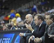 Ole Miss head coach Andy Kennedy vs. La Salle in the Round of 32 of the NCAA Tournament at the Sprint Center in Kansas City, Mo. on Sunday, March 24, 2013. La Salle won 76-74.