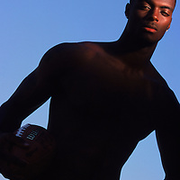 Plaxico Burress, NFL receiver. Photographed for The Sporting News.