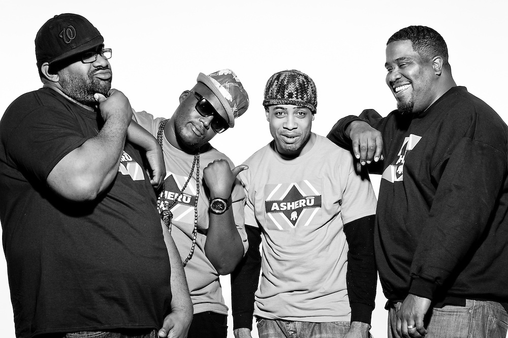 Asheru (Gabriel Benn), Hip Hop Pantsula (Jabulani Tsambo), Biscuit, and Omar in Washington, DC