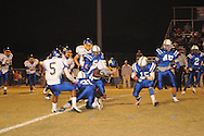 Oxford High's Mont Dean (22) vs. Saltillo in high school football action in Saltillo, Miss. on Friday, October 21, 2011. Oxford won in overtime.