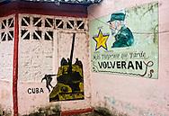 Revolutionary signs in Moron, Ciego de Avila, Cuba.
