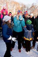 17 -1 2016 OSLO prince sverre magnus Ingrid Alexandra Royal Family in attendance in Palace Square to watch the activities.<br />  King Harald and Queen Sonja and crown princess mette marit and crown prince haakon , Princess Martha and Ari Behn at the palace in Oslo NORWAY 25th anniversary: Ascension to the Norwegian throne of Their Majesties King Harald and Queen Sonja<br /> COPYRIGHT ROBIN UTRECHT<br /> 17 -1 2016 OSLO koning Harald en koningin Sonja en kroonprinses Mette Marit en kroonprins Haakon, prinses Martha en Ari Behn in het paleis in Oslo Noorwegen 25ste verjaardag: Ascension aan de Noorse troon van Hunne Majesteiten Koning Harald en koningin Sonja viering voor 25 jaar als koning  en koningin Zaterdag was er in Oslo al een feestelijk middagmaal waaraan behalve de Noorse koninklijke familie ook veel buitenlandse gasten aanzaten. De zondag staat &rsquo;s ochtends vooral in het teken van een ontmoeting met de Noorse bevolking op het plein voor het paleis. Op dat plein zijn allerlei festiviteiten georganiseerd. &rsquo;s Middags is er een groot feest in de aula van de universiteit.