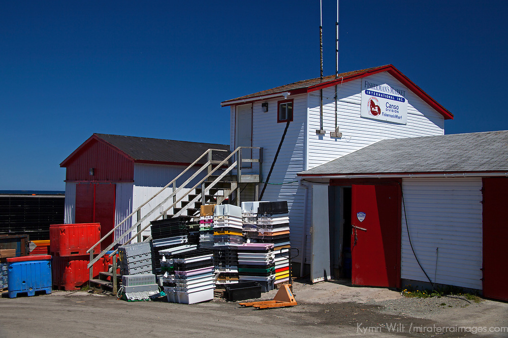 North America, Canada, Nova Scotia, Canso. Fisherman's Market Wharf in Canso.