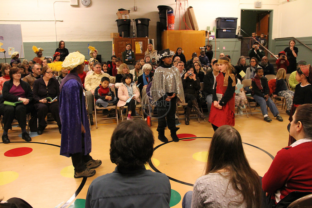 "Seattle Shakespeare Company Residency Showcase at Montlake Elementary School performing ""The Tempest"" on February 8, 2011"
