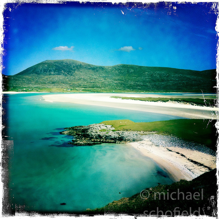 Seilebost Beach, Harris..Hipstamatic images taken on an Apple iPhone..©Michael Schofield.