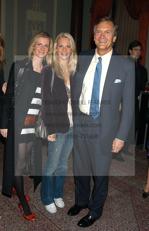 Left to right, sisters CHLOE DELEVINGNE and POPPY DELEVINGNE and their father CHARLES DELEVINGNE at a party hosted by Tatler magazine to celebrate the publication of Lunar park by Bret Easton Ellis held at Home House, 20 Portman Square, London W1 on 5th October 2005.<br /><br />NON EXCLUSIVE - WORLD RIGHTS