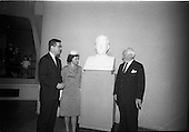 1964 - Bust of President Kennedy unveiled at the American Embassy, Dublin