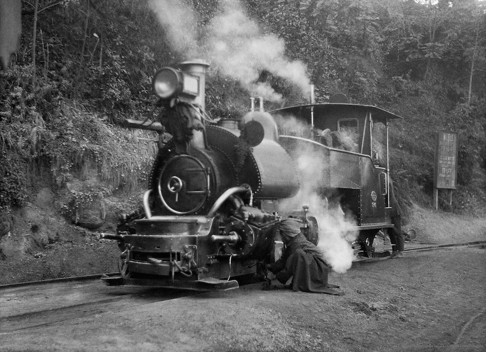Engine of the Darjeeling Himalayan Railway, India, 1929