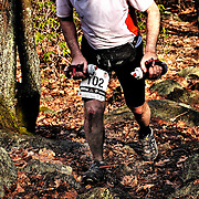 The North Face Endurance Challenge 50 mile trail run in Bear Mountain NY, April 12, 2008.