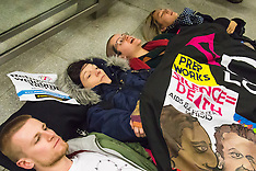 2016-01-16 St Pancras protest for refugees as France prepares to Bulldoze Calais Jungle camp