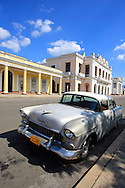Old American car in Cienfuegos, Cuba.